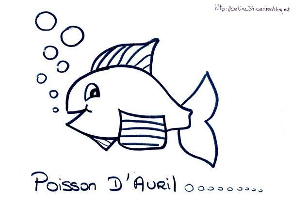 Coloriage poisson d avril - Poisson d avril dessin imprimer ...
