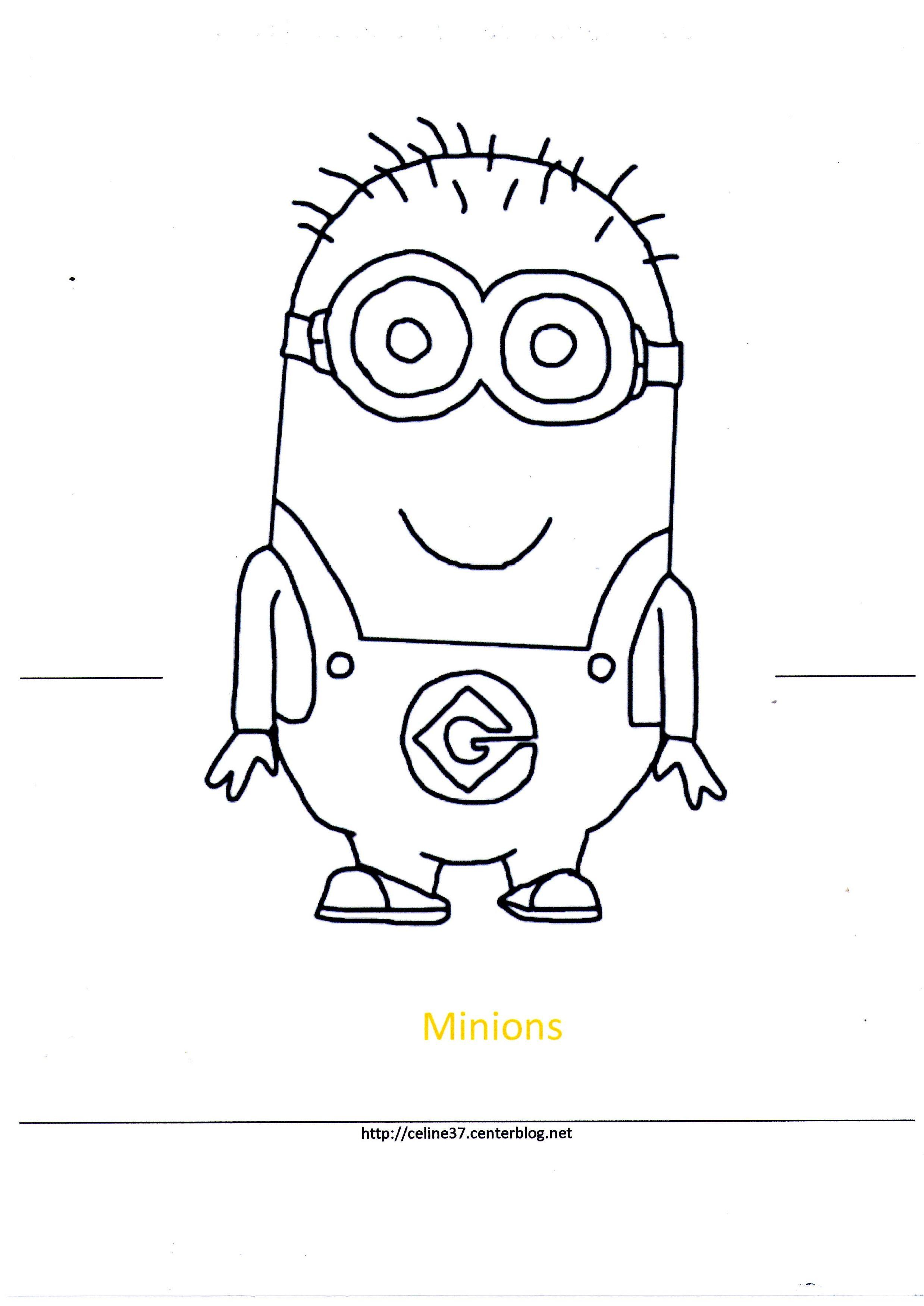 Gabarit les minions - Minion a dessiner ...